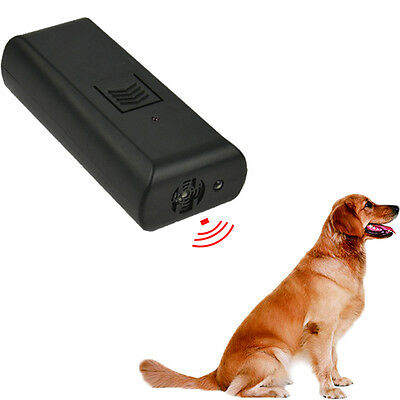 Pet Parade Ultrasonic Aggressive Dog Repeller Train STOP BARKING Sonic Training