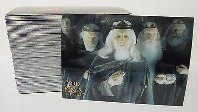 COMPLETE SET! 2004 Topps Chrome Lord of the Rings Trilogy Base Card Set #1-100