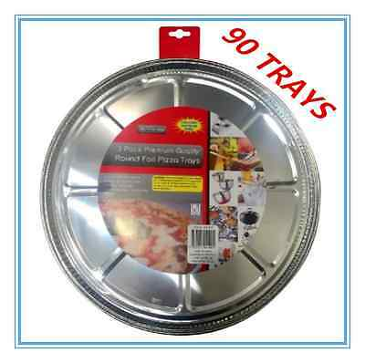 90 X Round Foil Pizza Trays - Birthday Party, Wedding, Event, Restaurant
