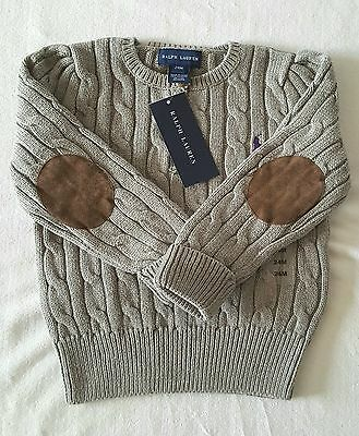 Brand New With Tag Polo Ralph Lauren Girls Classic Cable Knit - Long Sleeves