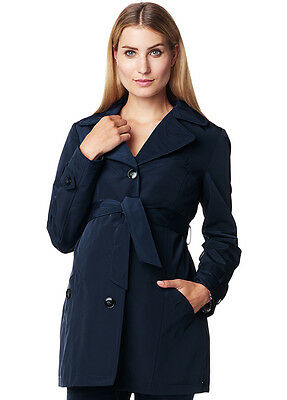 NEW - Esprit - Dark Navy Short Maternity Trench Coat