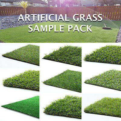 Artificial Grass Sample Pack Fake Turf Synthetic Lawn looks Real Garden