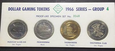 1966 Series Franklin Mint Dollar Gaming Tokens - Group 4 - Number 3048
