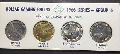 1966 Series Franklin Mint Dollar Gaming Tokens - Group 6 - Number 3048