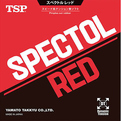 TSP Spectol Red Table Tennis Rubber (New) (Sale)