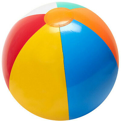 23cm Colorful ASSORTED BEACH BALLS Inflatable Blowup Panel Pool Party Toy Kid