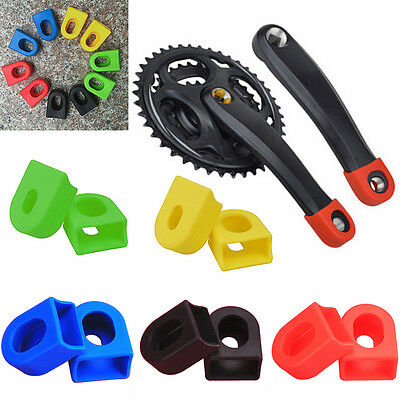 1pair Bicycle Crank Boot Protector Silicone Cycle Biking Ride Gear Sport Supply