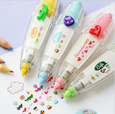 School Office Plus Stationery Decoration Rush Tape Pen For DIY Scrapbook Diary