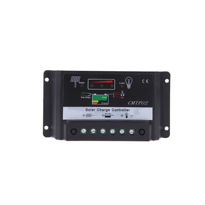 12V/24V 30A Solar Panel Charge Controller Battery Charger Regulator-Black