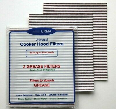 4 x Cooker Hood Hob Grease Extractor Filter For Zanussi & Other Makes - 47x57cm