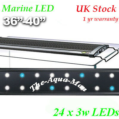 "Aquarium Led Light Saltwater Marine Lighting 90Cm Extendable 36"" 100Cm"