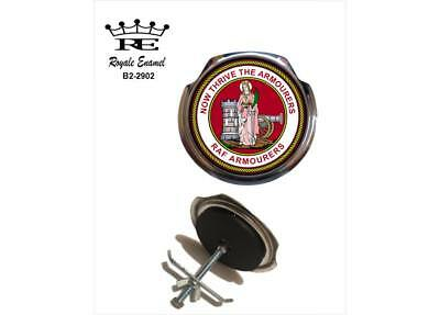 Royale Car Grill Badge + Fittings - RAF ARMOURERS ST SAINT BARBARA - B2.2902
