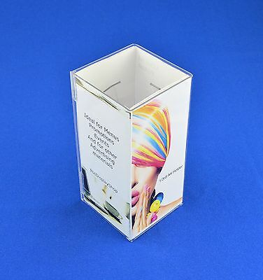 PDS8524 Card SALE 25 x A6 Portrait Angled Menu Display Holder in PVC