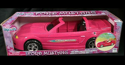 Pink Glam Starletz Convertible Ford Mustang Car for Barbie Fashion Size Doll New