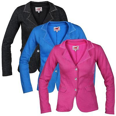 Red Horse Junior Hippique Comfortable Show Jumping Riding Competition Jacket