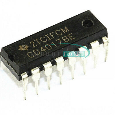 20Pcs Cd4017Be 4017 Cd4017 Dip-16 Decade Counter Divider Ic