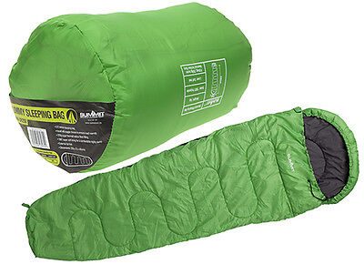 Summit 250gsm Mummy Therma Sleeping Bag For Camping Festival Holiday Hiking