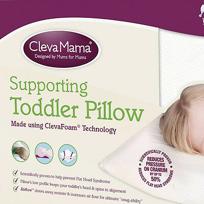 Clevamama Clevafoam Supporting Toddler Pillow 12 Months+