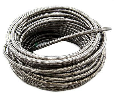 """Fuel Hose Stainless Steel Braided 8 mm (5/16"""") Length 100 Metres SAE30R6/R7"""