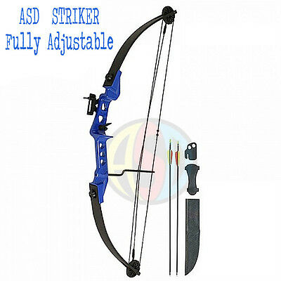 Archery Blue Striker Light Adult / Kids Compound Bow Set Fully Adjustable