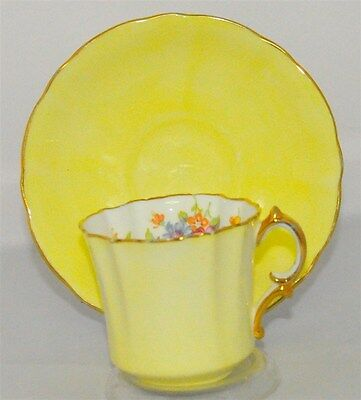 Ornate/ Victorian Yellow Floral  Hammersley Tea Cup and Saucer Set ( Tea Cup )