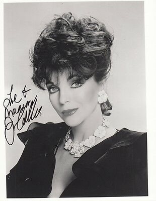 "JOAN COLLINS - Original 10"" x 8"" b/w Photograph PERSONALLY SIGNED to 'MARION'"