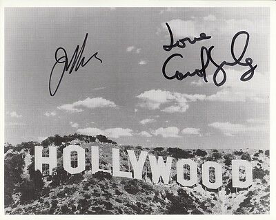 """JOAN COLLINS - CAROL LYNLEY - 10"""" x 8"""" b/ Photo PERSONALLY SIGNED BY BOTH STARS"""