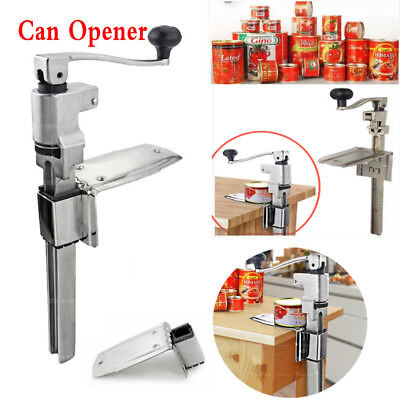 Vogue Large Bench Rotation Can Opener Stainless Steel Commercial Kitchen Tin HOT