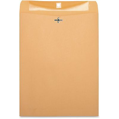 "Business Source Clasp Envelopes,28 lb.,10""x13"",100/BX,Brown Kraft 36665"