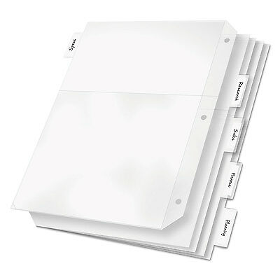 Cardinal Poly Ring Binder Pockets 11 x 8 1/2 Clear 5/Pack 84010