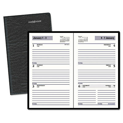 At-A-Glance Weekly Pocket Planner 3 1/2 x 6 3/16 Black 2017 SK4800