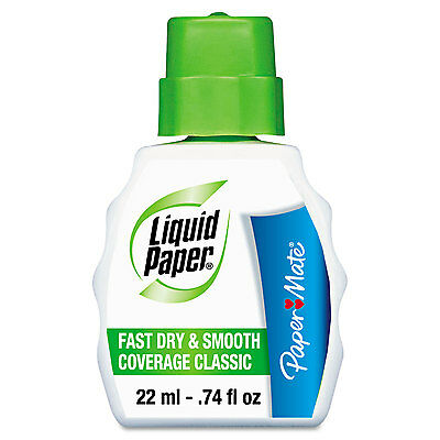 Liquid Paper Fast Dry Classic Correction Fluid 22 ml Bottle White 61446