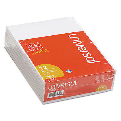 Universal Scratch Pads Unruled 4 x 6 White 100-Sheet Pads 12 pack 35614