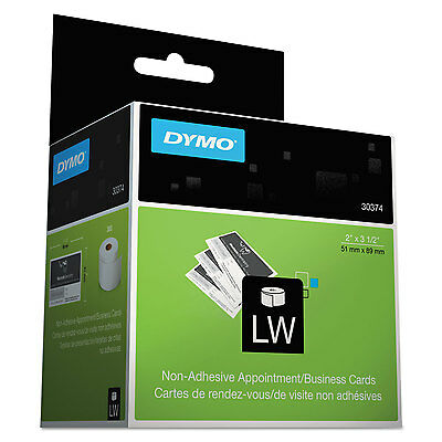 DYMO LabelWriter Business/Appointment Cards 2 x 3 1/2 White 300 Labels/Roll