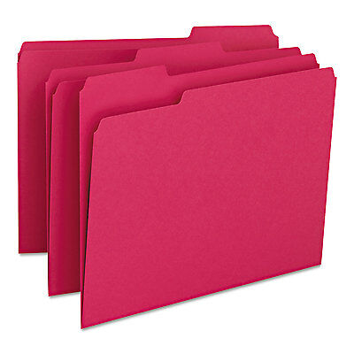 Smead File Folders 1/3 Cut Top Tab Letter Red 100/Box 12743