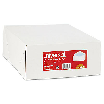 Universal Security Tinted Business Envelope V-Flap #10 White 500/Box 35202