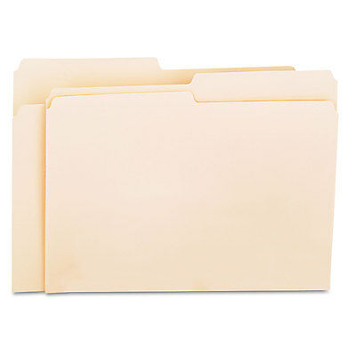 Universal File Folders 1/2 Cut One-Ply Top Tab Letter Manila 100/Box 12112