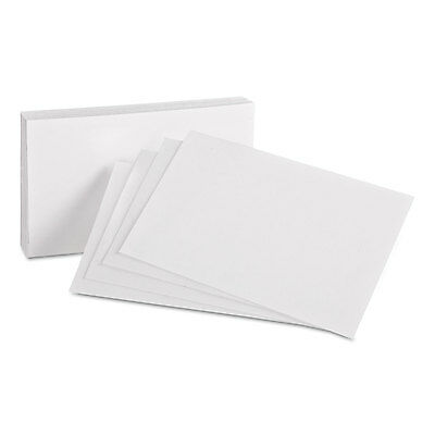 Oxford Unruled Index Cards 4 x 6 White 100/Pack 40