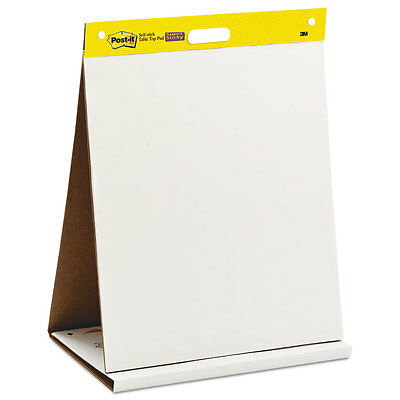 Post-it Easel Pads Self Stick Tabletop Easel Unruled Pad 20 x 23 White 20 Sheets