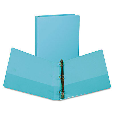"Samsill Fashion View Binder Round Ring 11 x 8-1/2 1"" Capacity Turquoise 2/Pack"