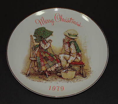 "Vintage HOLLY HOBBIE Porcelain Plate 8"" Merry Christmas 1979"