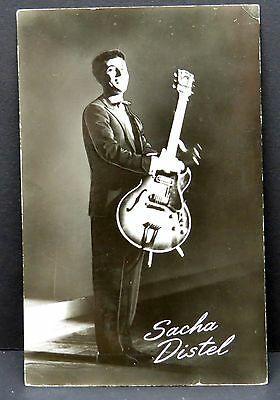 Sacha Distel - AK - Foto Autogramm-Karte - Photo Postcard (Lot F7734