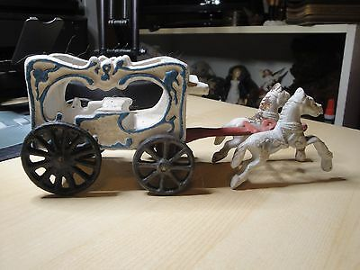 Cast iron Circus Carriage with horses.