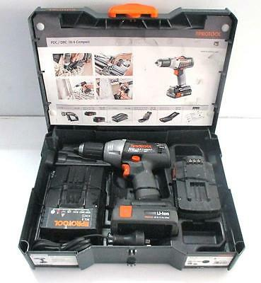 Protool PDC/DRC 18-4 Compact Cordless Drill with charger and 2 batteries