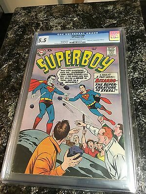 Superboy 68 Cgc 5.5 First Appearance Of Bizarro