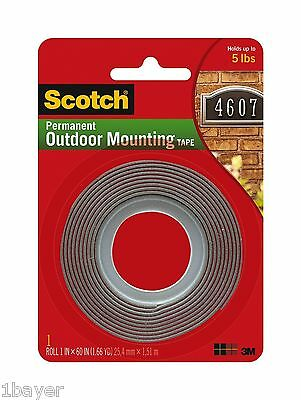 """Scotch Office Home Indsutrial Warehouse Exterior Mounting Adhesive Tape (1x60"""")"""