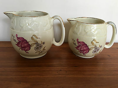 """lord Nelson Ware-Staffordshire England"" Vintage Elijah Cotton Cream & Milk Jugs"