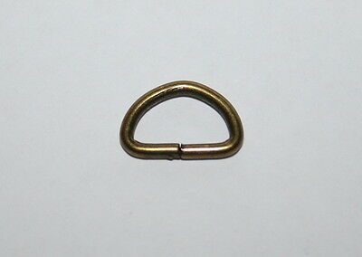 10mm Bronze Metal D Rings PK10- NEW