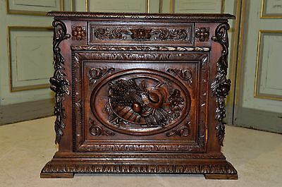 Antique French Oak Corner Cabinet Beautiful 19th Century Renaissance Design Grea