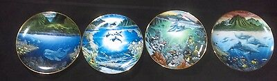 Four Plates From Underwater Paradise Collection by Robert Lyn Nelson